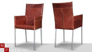 Eetkamerstoel oregon hvs leren eetkamerstoelen for Design eetkamerstoelen outlet