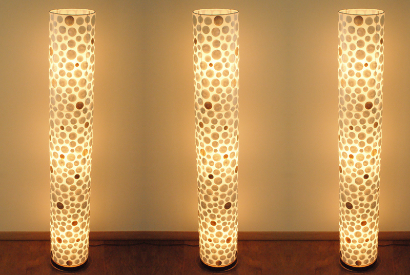 Vloerlamp cilinder wg 200 cm leren eetkamerstoelen for Lampen 150 cm